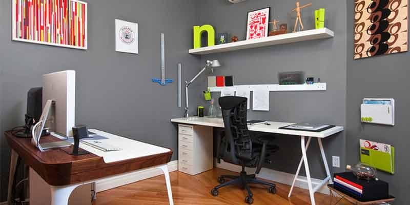 Küçük Ofis Dekorasyon fikirleri Plan Ofis